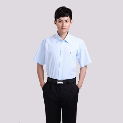 男式万博手机登录网址是多少万博体育ManBetX网页版-蓝色条纹短袖衬衣