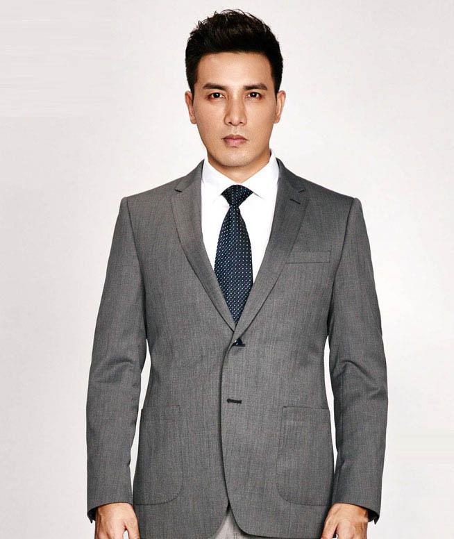 秋季新品男士含羊毛修身时尚休闲西服