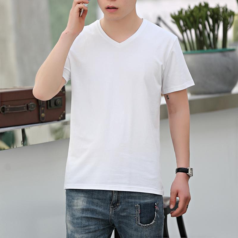 白色V领文化衫-V领文化衫-黑色V领文化衫-价格-厂家-制作-订做